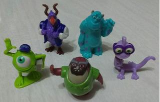 Lote De 5 Muñecos Huevo Kinder Monsters Inc University