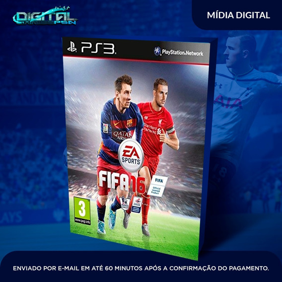 Fifa 16 Ps3 Psn Midia Digital Envio Hj!