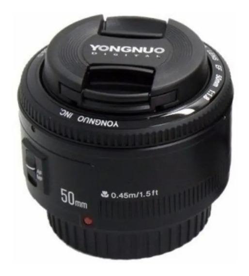 Lente Yongnuo 50mm F/1.8 Para Canon + Brinde