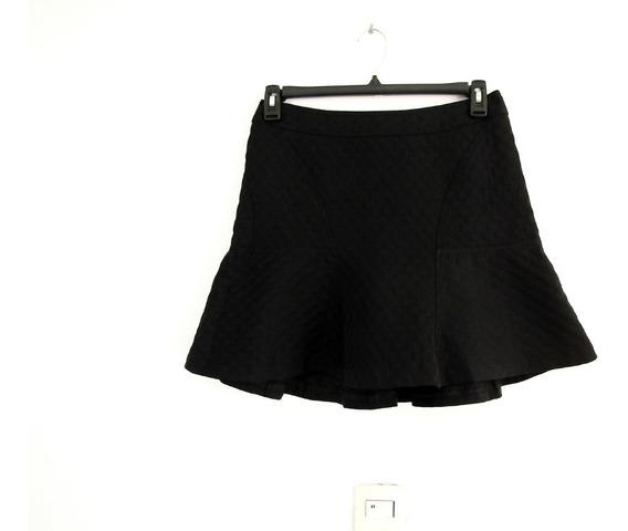 Fina Minifalda Negra Con Olan Talla 6
