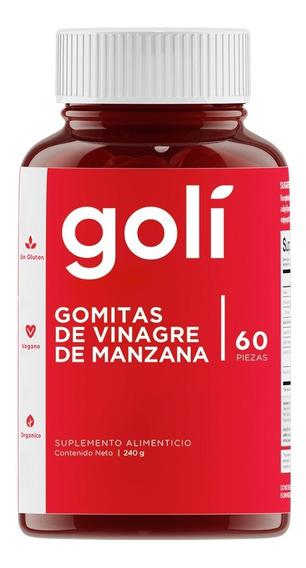 Golí Gomitas De Vinagre De Manzana Frasco 60 Piezas 240gr