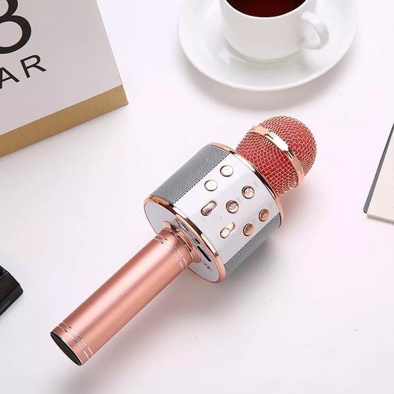 Microfone Portatil Ws 858 Bluetooth Karaokê Para Crianças