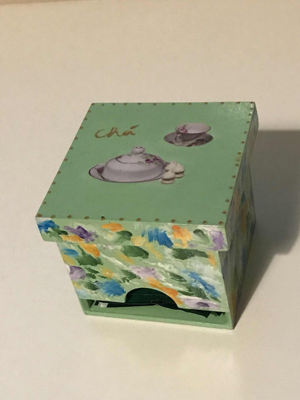 Caixa Decorativa Para Chá + Brinde