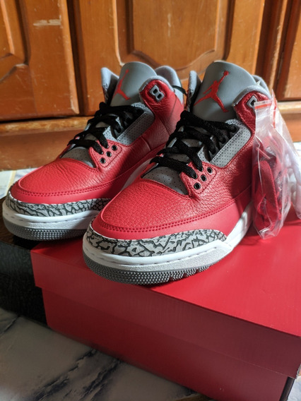 Nike Air Jordan 3 Retro Se Red Cement Fire Red Sz 40