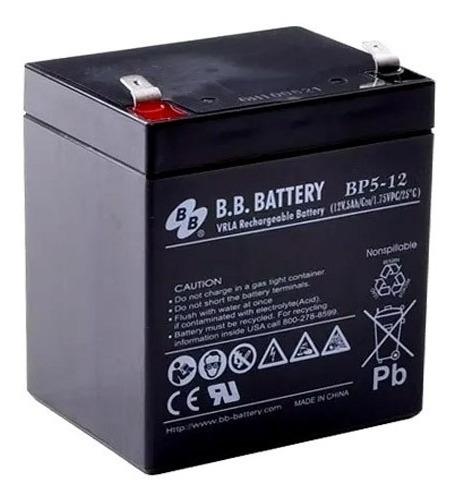 Bateria 12v 5ah Bb Battery Nobreak Sms Apc Bp5-12 Original