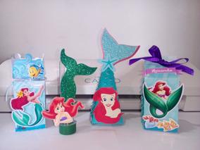 Pequena Sereia Kit Festa Personalizado - 50pçs