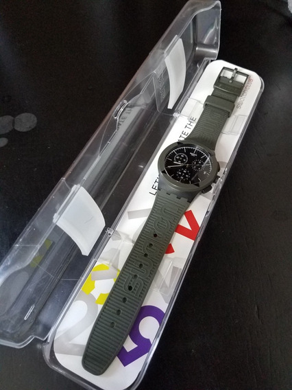 Verde Militar Swatch En Deportivo Pulso 00 Reloj Nylon190 kZP8wNnOX0