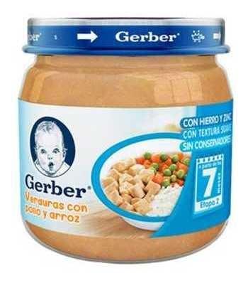Gerber 2a Etapa Verdura Pollo/arroz De 113gr