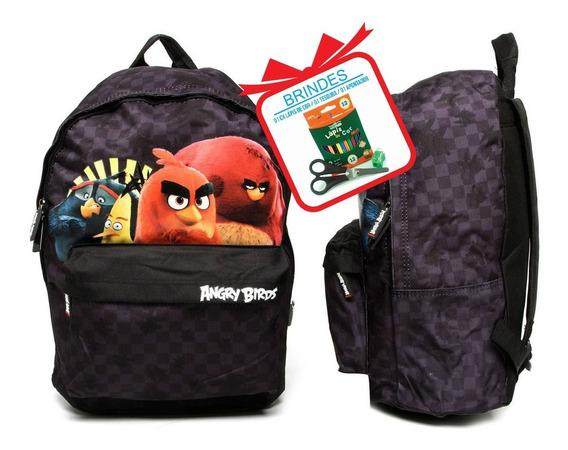 Mochila De Criança Infantil Menino Escolar Angry Birds