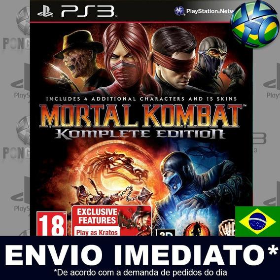 Mortal Kombat Komplete Edition Ps3 Psn Legendas Br Promoção