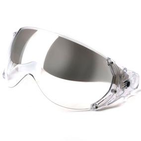 Viseira Dupla Cristal C/ Óculos Silver Capacete Kraft Plus