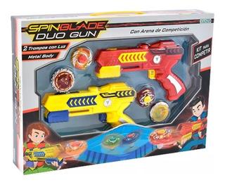 Spin Blade Duo 4 Trompos + Lanzador + Campo Batalla Ditoys