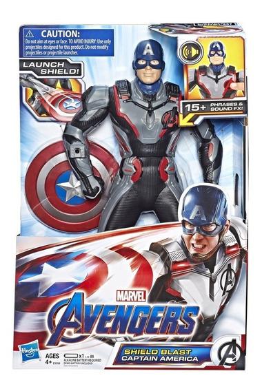 Boneco Capitão América Power Fx Vingadores Ultimato Avengers