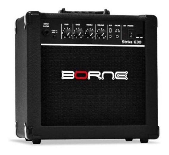 Amplificador Borne Strike G30 Combo 15w Preto 110v/220v