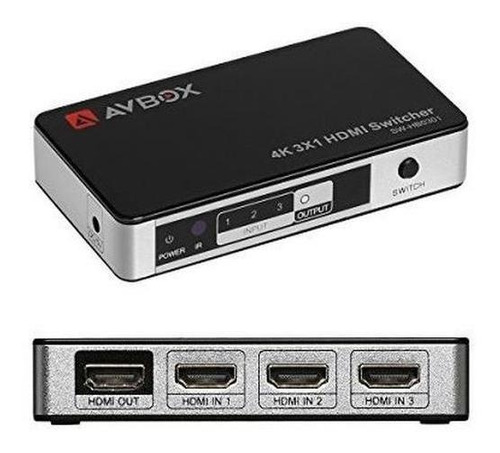 Imagen 1 de 7 de Avbox 4k X 2k Interruptor Hdmi 3 En 1 Salida 3 Puertos Caja