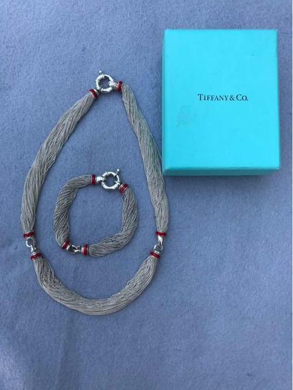 Juego Tiffany & Co. Original De Collar Y Pulsera De Cadenas