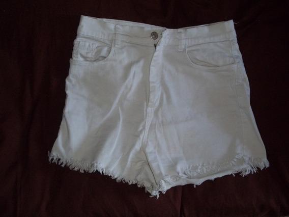 Short Tela Jeans Color Crema