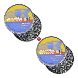 Munição Carabina Chumbinho H&n Excite Plinking 4.5mm 1000un.