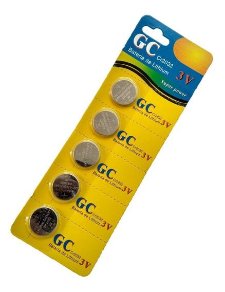 Pilha Bateria Moeda Cr2032 3v Lithium Ki C/ 5 Não Fique Sem