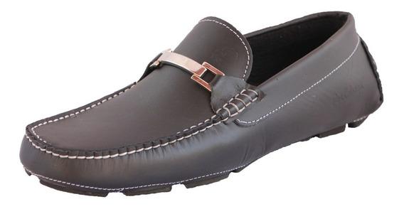 Zapatos Driver Mocasines Peskdores Black Hebilla Blk00101