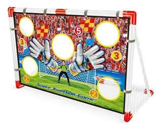 Set Arco De Futbol Real Action Punteria Incluye Pelota Ck