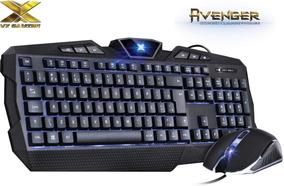 Combo Gamer Teclado + Mouse Vx Gaming Avenger 1600dpi C/ Nf