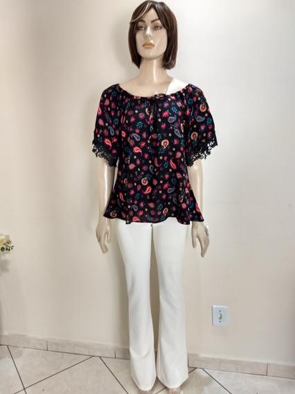 Conjunto Feminino Calça Braca E Blusa Ciganinha Na Promoção