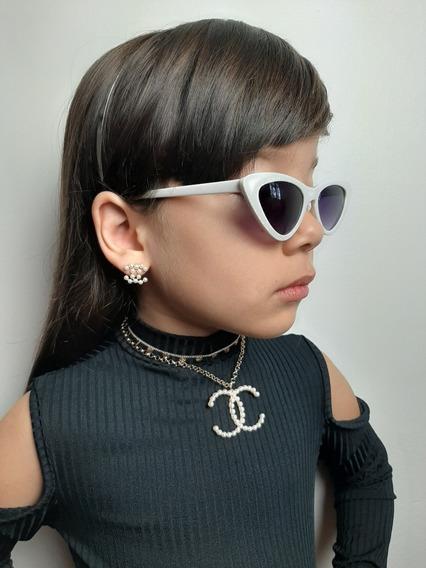 Kit De Colar E Chocker E Brinco Blogueirinha Infantil