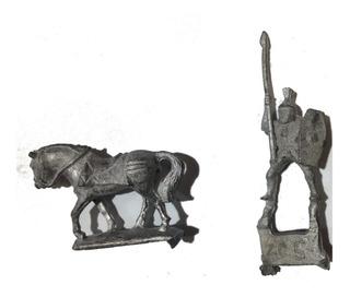 Soldado Romano A Caballo Miniatura Plomo Metal Rol Pintar