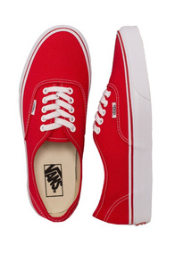 Tênis Vans Authentic Red / White - Original Importado