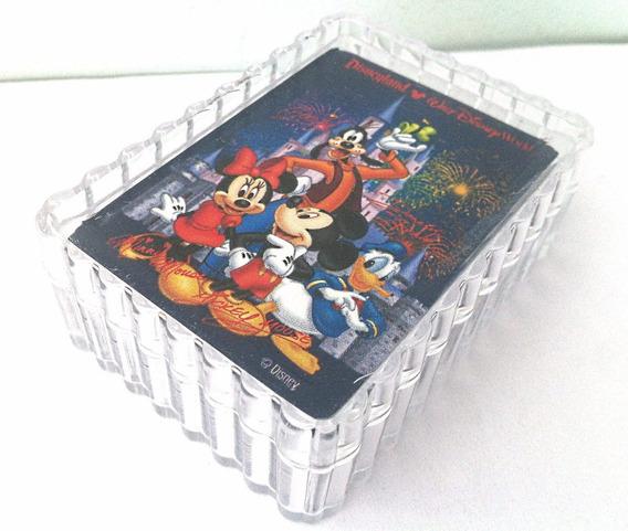 Mini Baralho Walt Disney Mickey Mouse Minie Pluto 54 Cartas