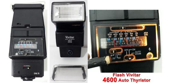 Flash Vivitar 4600 Auto Thyristor ( Funcionando) C/ Difusor