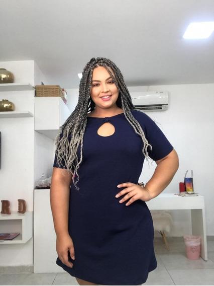 Vestido Malha Crepe Plus Size Moda Feminina 48/50