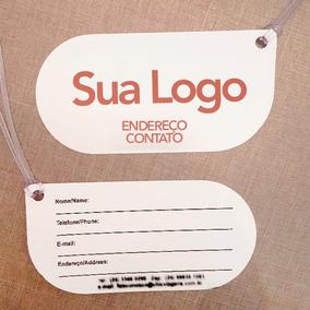 500 Etiquetas De Bagagem Personalizada Pvc