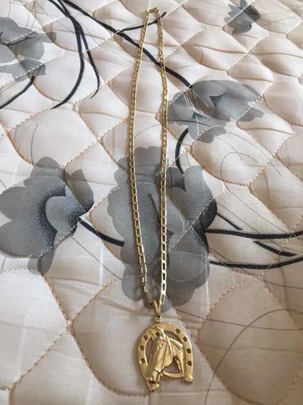 Cordao Foliado A Ouro. 70cm/4mm