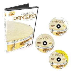 Coleção Curso De Pandeiro Em 3 Dvds- Edon- Original
