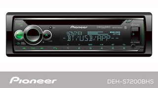 Autoestereo Pioneer Deh-s7200bt Cd Aux Usb Bluetooth 1 Din