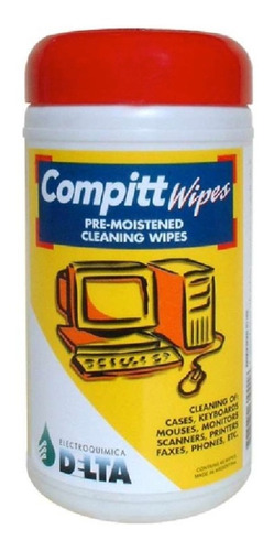Imagen 1 de 4 de Compitt Wipes 45 Paños Prehumedecidos Limpieza Computacion