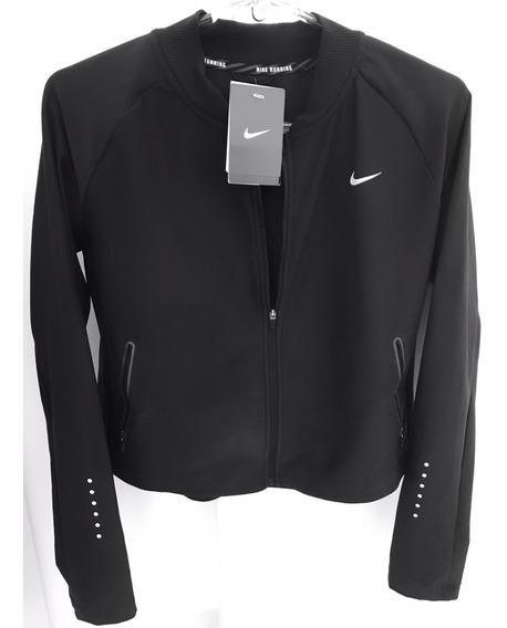 Jaqueta Preta Nike Running Original Dri-fit Casaco Refletivo