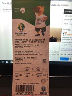 Entrada Final Copa América 2019