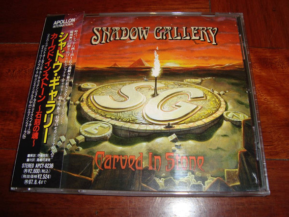 Shadow Gallery Carved In Stone 1st Press Cd Japon