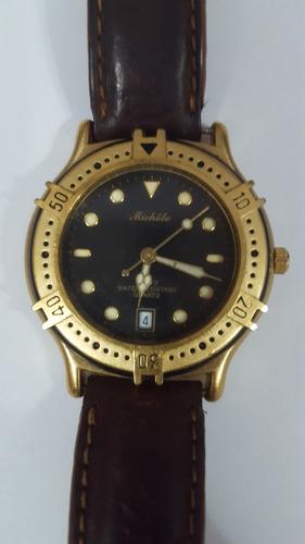 Relógio Michele Quartz 100ft Waterresistant Funcionando 100%