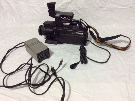- Filmadora Antiga Panasonic - Super 8 Mm Com Fonte - 70´s