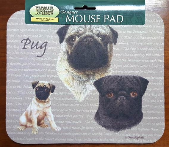 Mouse Pad Americano Perro Pug, 23,5 X 20 Cms
