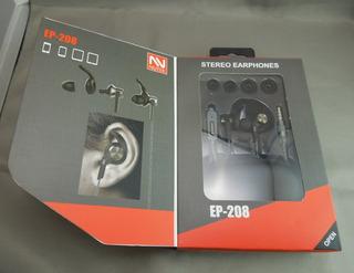 * Audifonos Manos Libres Marca Nutek Mod-ep-208 Nuevos