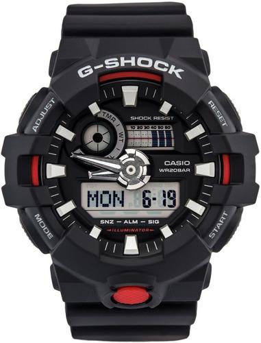 Relogio Casio G-shock Preto Elite Ga-700-1a Na Caixa
