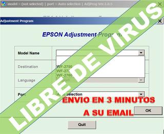 Reset Epson Workforce 2750 Wf2760 Corrige Error Almohadillas