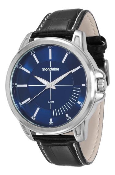 Relógio Mondaine Masculino Analógico Couro Original Com Nf-e