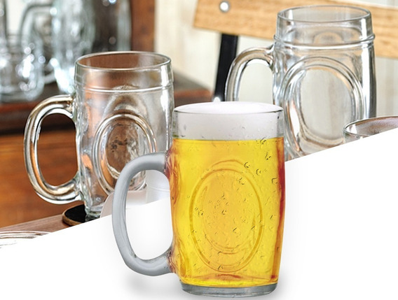 Jogo 12 Canecas Chopp Vidro 300 Ml Caneca Cerveja Fritz