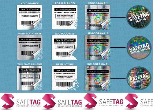 Etiquetas Seguridad Holograma Sellos Autoadhesivos Fajas Garantia Precintos Reparaciones Productos Equipos Computadoras
